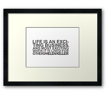 Exciting Framed Print