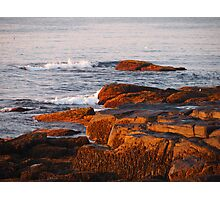Early Morning Waves and Seaweed Photographic Print