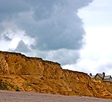 Landscape, Building, Cliff, Danger by Hugh McKean