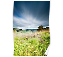 Long Exposure, Tweed Valley from Cardrona Woods, Scottish Borders Poster