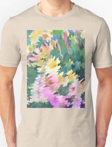 Welcome Spring Abstract Floral Digital Watercolor Painting 4 T-Shirt