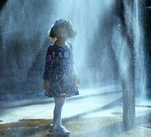 little girl in water drops by Marianna Tankelevich