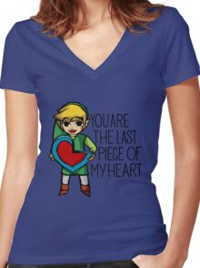 Legend Of Zelda - The Last Piece Women's Fitted V-Neck T-Shirt