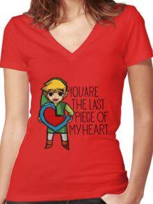 Legend Of Zelda - The Last Piece Women's Fitted V-Neck T-Shirt
