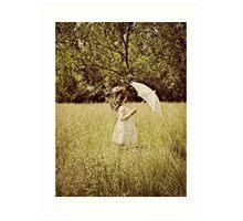 the white umbrella Art Print