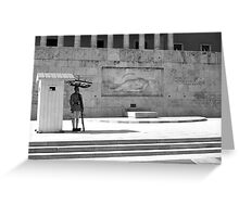 BW Greece Athens Tomb of the Unknown Soldier 1970s Greeting Card
