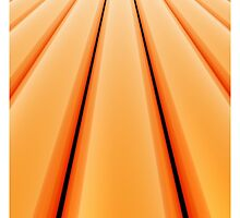 Vanishing Point, Orange for iPhone by Lyle Hatch