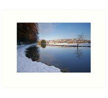 River Wey, Guildford, Surrey Art Print