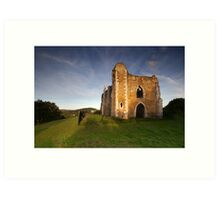 St Catherine's Chapel, Guildford, Surrey Art Print