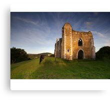 St Catherine's Chapel, Guildford, Surrey Canvas Print