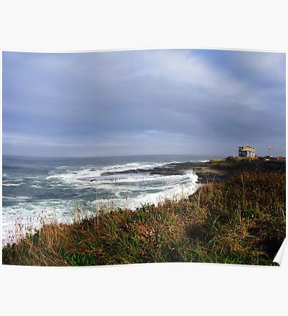 Sigh Time....Outside Yachats, Oregon Poster