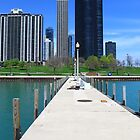 Chicago Boat Marina near Navy Pier  by Adam Kuehl