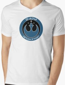 Star Wars Episode VII - Blue Squadron (Resistance) - Insignia Series Mens V-Neck T-Shirt