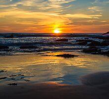 Sunset on Whipsiderry Beach by John Dunbar