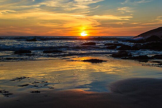 Sunset on Whipsiderry Beach by John Dunbar