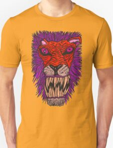 Monster Mondays #2 - Lionel Lion - Anger Monster! - Red and Orange T-Shirt