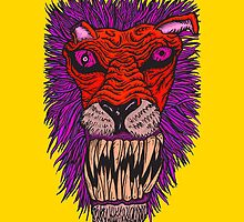 Monster Mondays #2 - Lionel Lion - Anger Monster! - Red and Orange by monstermondays