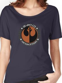 Star Wars Episode VII - Black Squadron (Resistance) - Insignia Series Women's Relaxed Fit T-Shirt