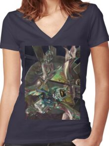 Midna, the fourth Goddess Women's Fitted V-Neck T-Shirt