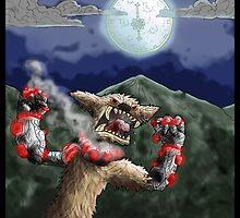 steampunk werewolf by kangarookid