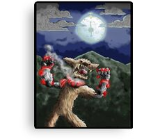 steampunk werewolf Canvas Print