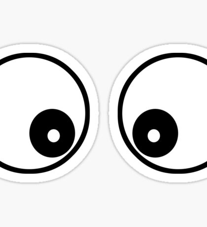 Googly Funny Cartoon Eyes - Toon T-Shirt & Top Sticker