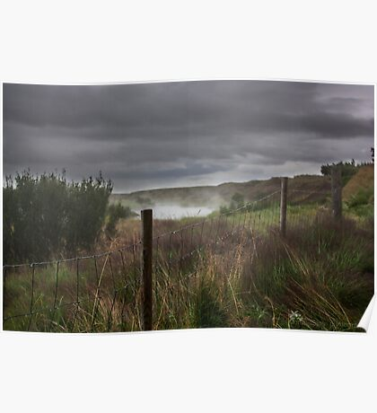 wet fence Poster