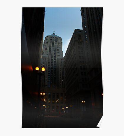 LaSalle St. Chicago, IL Poster