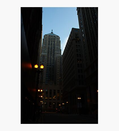 LaSalle St. Chicago, IL Photographic Print