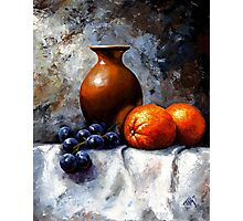 Orange and grapes Photographic Print