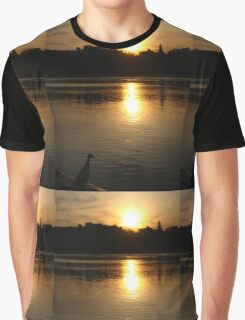 Sunset Duck on banks of Rhone River Avignon France Graphic T-Shirt