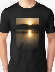 Sunset Duck on banks of Rhone River Avignon France T-Shirt