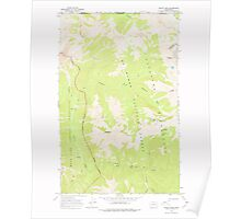 USGS Topo Map Washington State WA Skagit Peak 243736 1969 24000 Poster