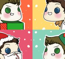 Dean & Castiel - Christmas/Winter Set Sticker