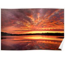 Red Burning Sky Poster
