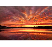 Red Burning Sky Photographic Print