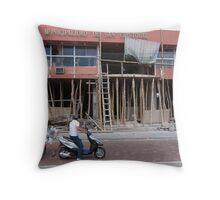 Construction. Throw Pillow
