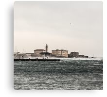 wind on the pier of Trieste Canvas Print