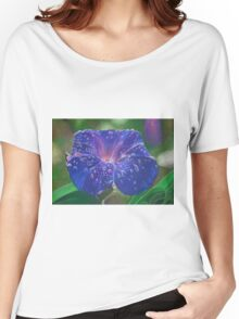 Deep Purple Morning Glory With Morning Dew Women's Relaxed Fit T-Shirt