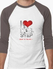 I Love Dubstep Men's Baseball ¾ T-Shirt