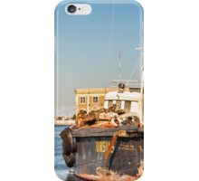 winter morning at the port of Trieste iPhone Case/Skin