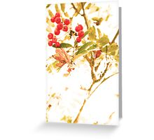 red berry blossem.. Greeting Card