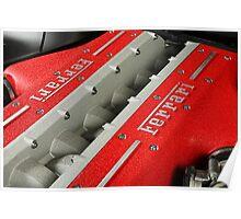 Ferrari V12 Engine Poster