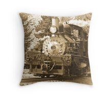 Steam Engine No. 9 Throw Pillow