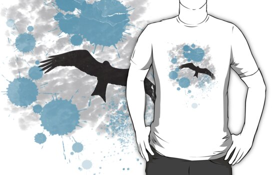 Bird In The Rain T-Shirt by Denis Marsili