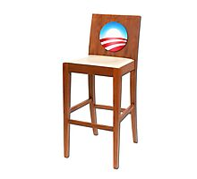 Obama Empty Chair Clint Eastwood Photographic Print