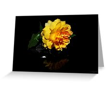 """ The Yellow Rose ' Greeting Card"