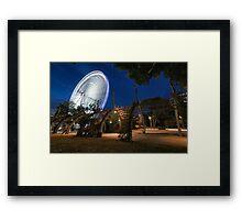 Big Spinner Framed Print
