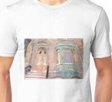 Brownstone, copper, snow; Brooklyn. photo A P Boysen Unisex T-Shirt