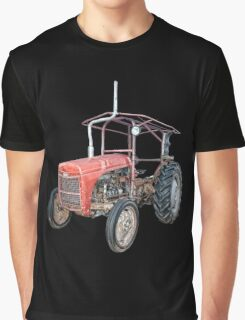 Grey Fergie Tractor  Graphic T-Shirt
